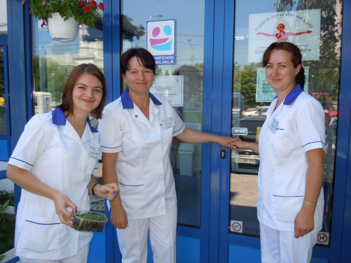 The staff of the medical center